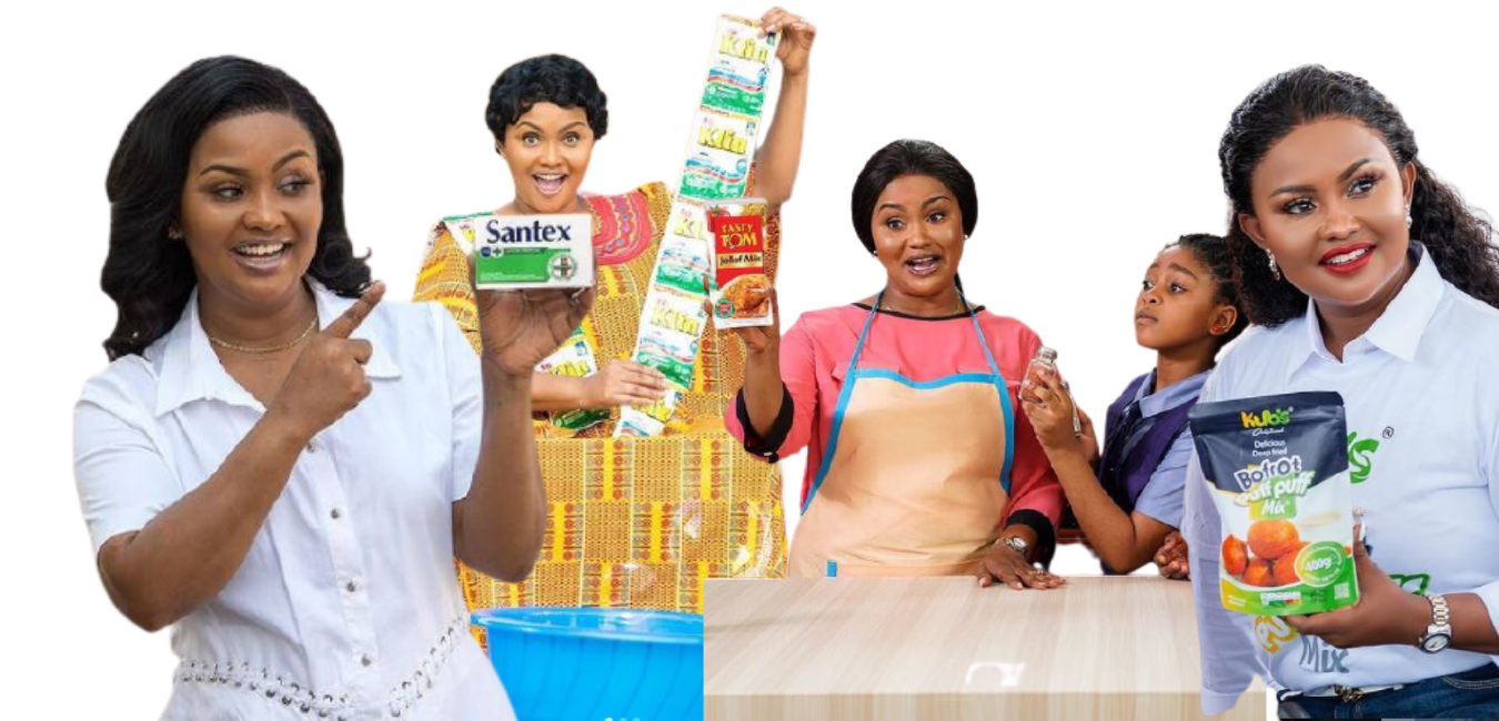 Nana Ama McBrown and brands, adverts and commercials